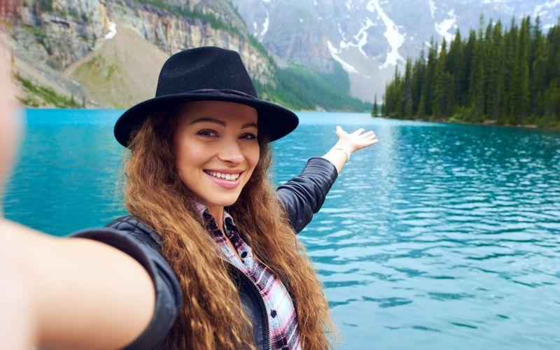 Girl exploring Canada