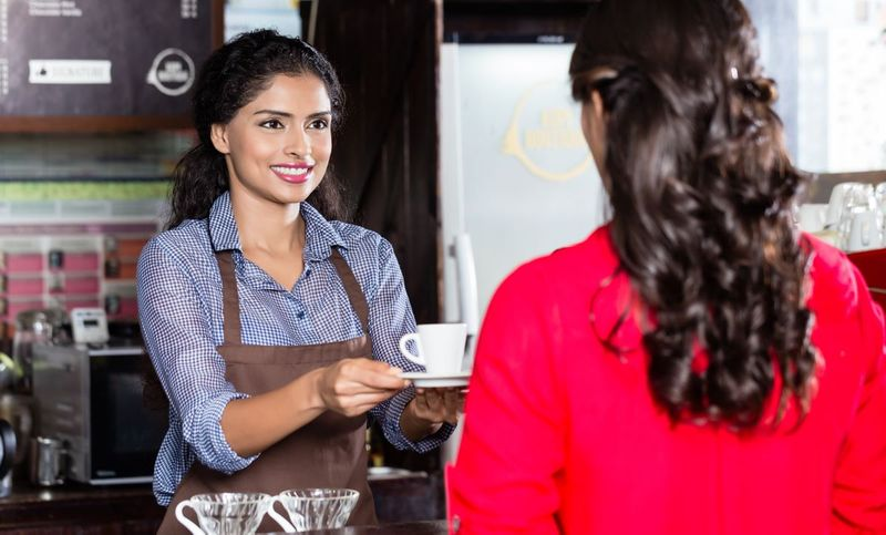 Beautiful barista in India