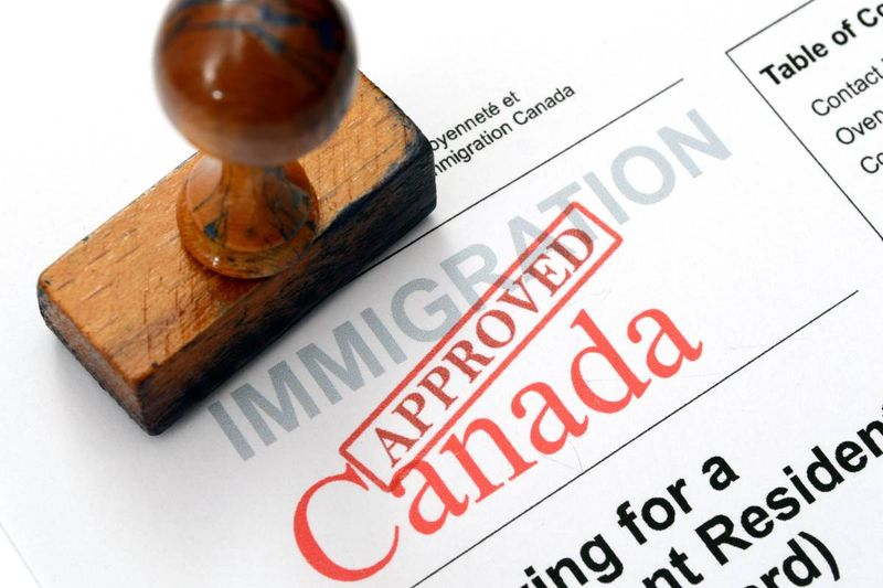 Canada immigration application approved stamp | jobs in Canada