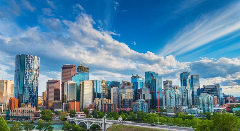 City Skyline of Calgary Alberta Canada