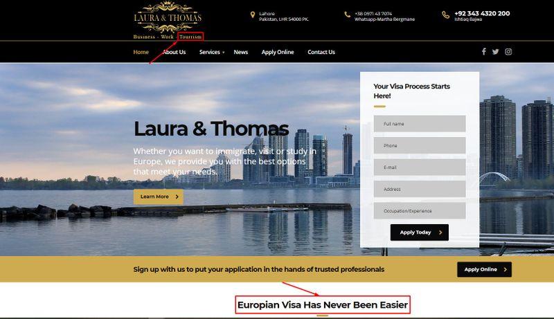 European visa fraud website | fake or real