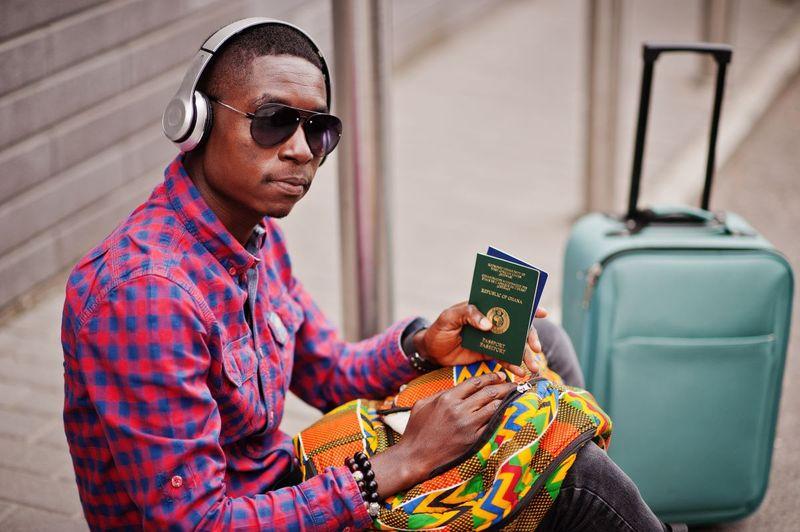 Man from Ghana with Ghanaian passport