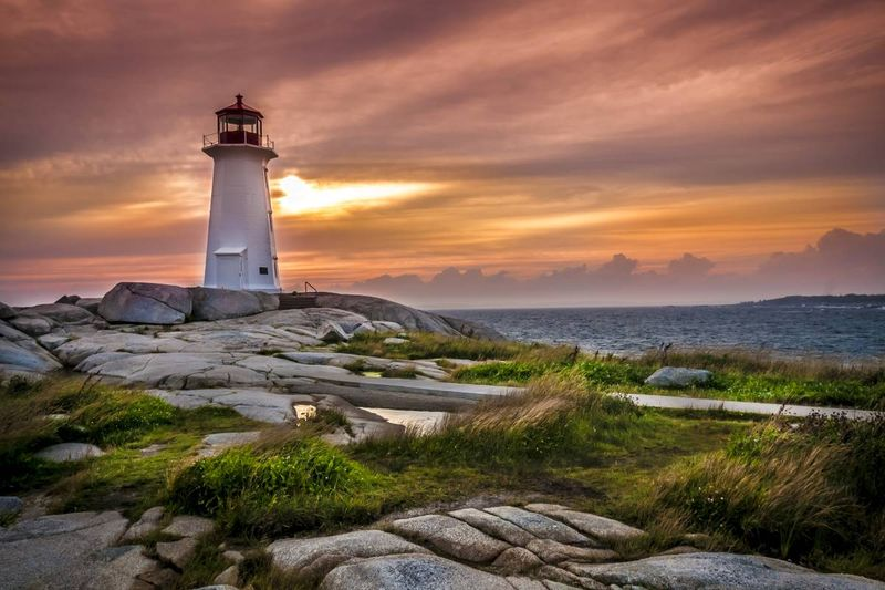 Lighthouse in Nova Scotia at sunset | Canadian Immigration Programs for Turkish Immigrants