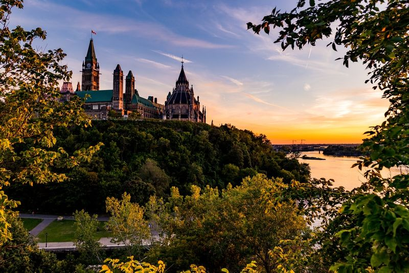Parliament of Canada and Ottawa River