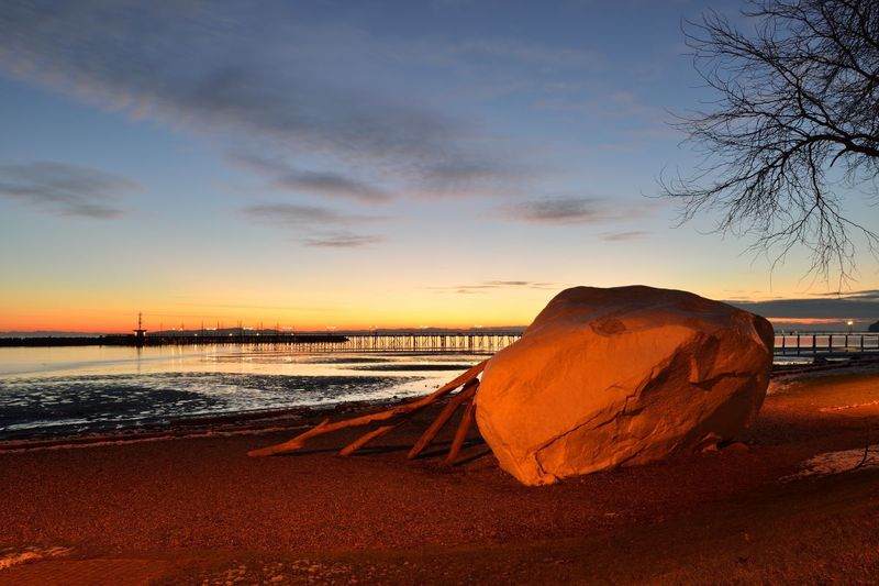 White Rock British Columbia Canada at sunset