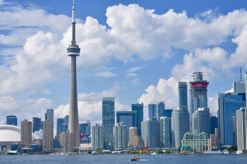 Pollution free city in Canada CN Tower Toronto Ontario