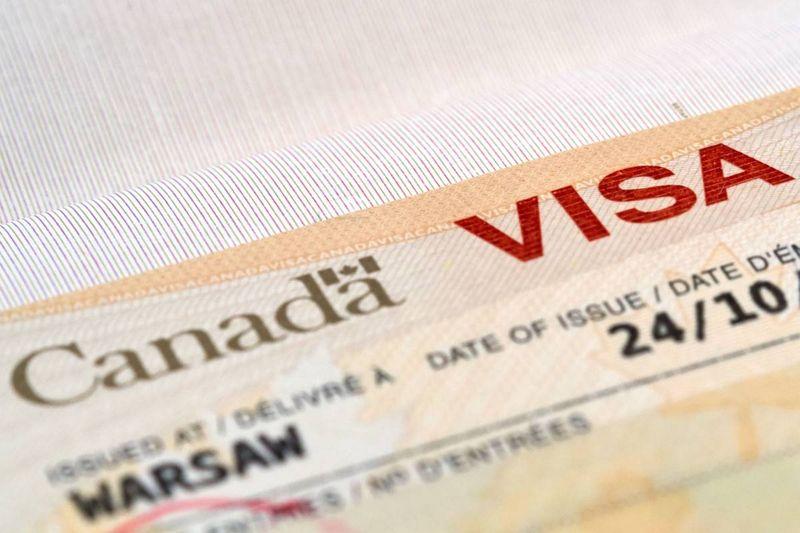 Canada visa in passport | move to Canada