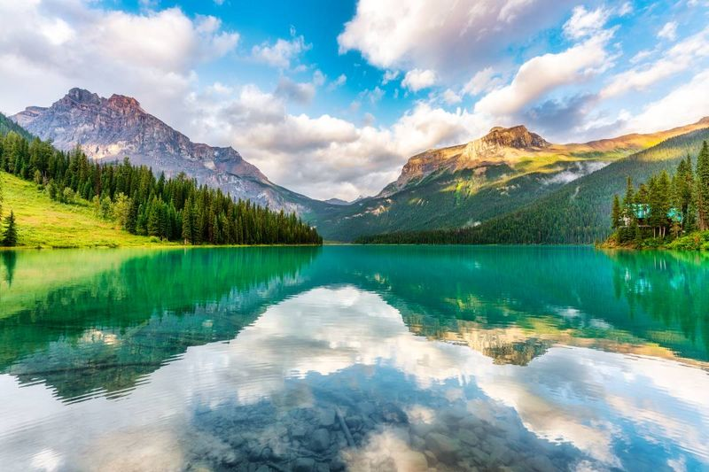 Canadian Rockies at Emerald Lake in Yoho National Park British Columbia Canada  |  how to apply for a Canadian visa from Chile