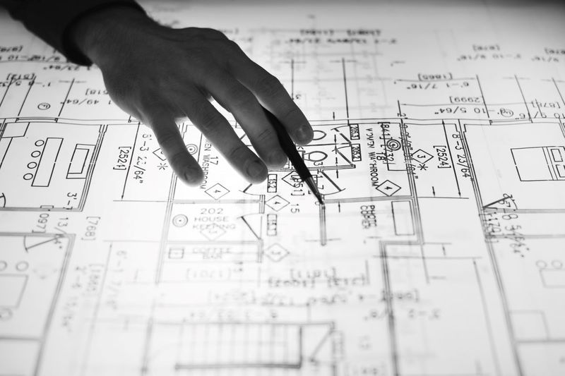 engineering drawings black and white canada