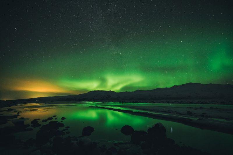 northern lights yukon territory canada