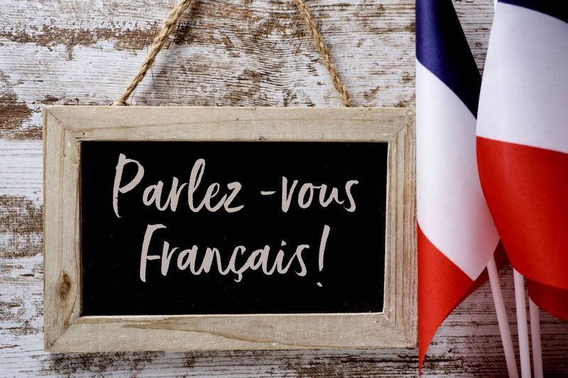 parlez-vous francais on chalk board with French flag   how to immigrate to Canada in 2020 as a French speaker