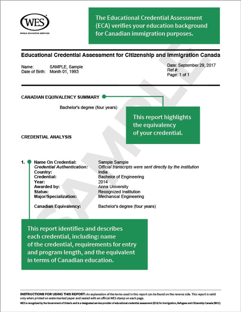 Sample-of-WES-ECA-Report