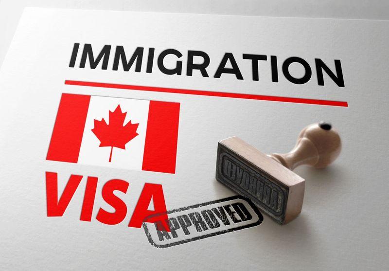 Canadian visa approved stamp