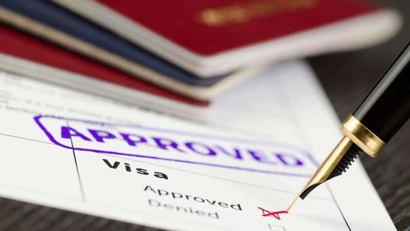 Visa documents approved