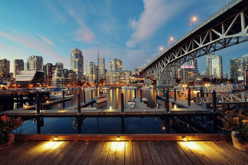 Vancouver dock at sunset British Columbia Canada | Fastest Ways to Immigrate to Canada